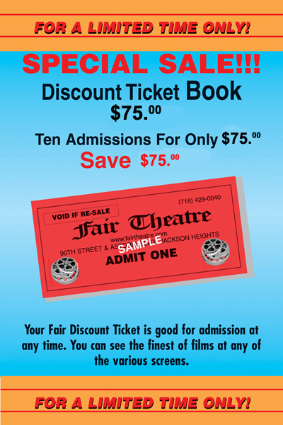 Discount Ticket Book